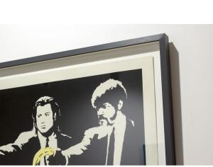Banksy frame float mount