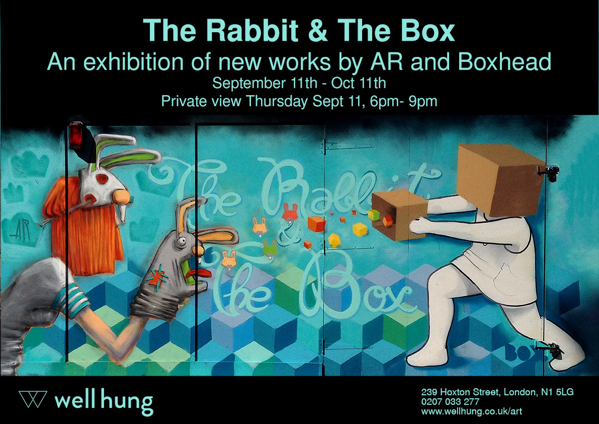 An exhibition with AR and Boxhead