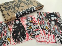 Hush Unseen 1 & 2 stickers and box