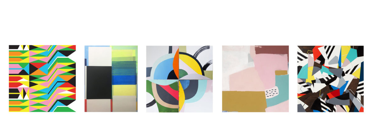 'The Abstract Show' with artists; Anna Mac, Jo Hummel Newell, Mark McClure, Morag Myerscough and Rupert Hartley.