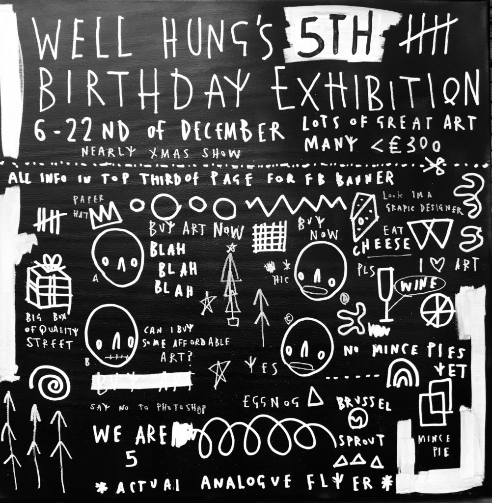 Well Hung 5th Birthday Skel Flyer